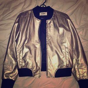 BB DAKOTA bomber jacket silver metallic
